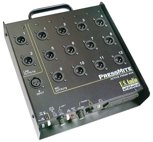 Whirlwind PRESSMITE - 1 Line Level or Mic Level Input to 12 Mic & 2 Line Outputs